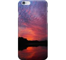 Silhouettes at sunrise, everything is still..hammer of the gods iPhone Case/Skin