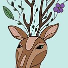 A Deer With A Floral Imagination by mlleruta