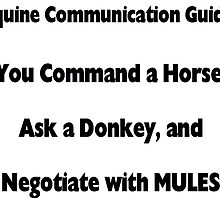 Command Horse, Ask Donkey, Negotiate with Mule by MuleSense