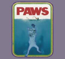 Paws Jaws Movie parody T Shirt by djhypnotixx