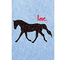 Cute Horse, Hearts and Love Photographic Print
