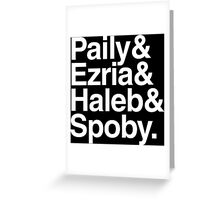 PLL Ships - white text Greeting Card
