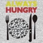 Always Hungry [Yellow Red]   Stay Hungry Stay Foolish Shirts by FreshThreadShop