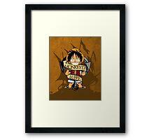 Chibi Luffy Framed Print
