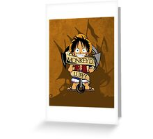 Chibi Luffy Greeting Card