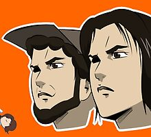 Game grumps Anime Heads by TechnoKhajiit