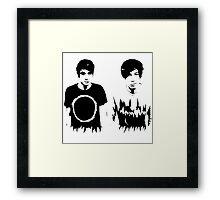 Dan and Phil Framed Print