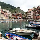 A quiet cove in Cinque Terre by Kevin Hayden