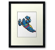 Gigantor the space age robot - grungy Framed Print