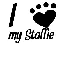 I Heart My Staffie by kwg2200