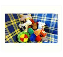 Eddie's Toys - sit on settee in Family room Art Print
