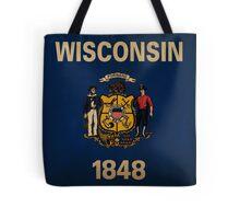 Wisconsin State Flag VINTAGE Tote Bag