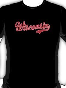 Wisconsin Script Red T-Shirt