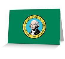 Washington State Flag Greeting Card