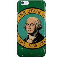 Washington State Flag VINTAGE iPhone Case/Skin