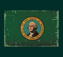 Washington State Flag VINTAGE by USAswagg2