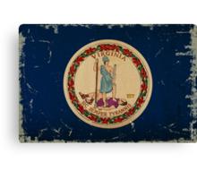 Virginia State Flag VINTAGE Canvas Print