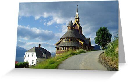 St. Olaf church - Balestrand - Norway by Arie Koene