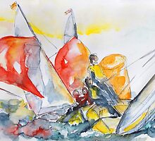 Regatta Duel by Barbara Pommerenke