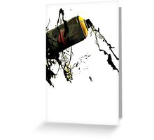 Alien Spray tshirt Greeting Card