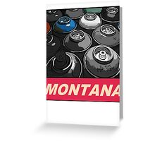 Montana Spray t-shirt Greeting Card