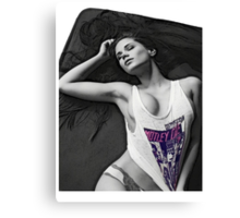 Your girl in the bed Canvas Print