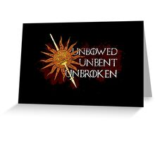Unbowed Unbent Unbroken - House Martell Greeting Card