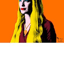 Mozart and Marie Game of Thrones Queen Cersei as Warhol's Marilyn by MozartandMarie