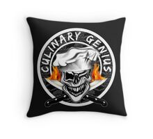 Skull Chef 7: Culinary Genius 2 Throw Pillow