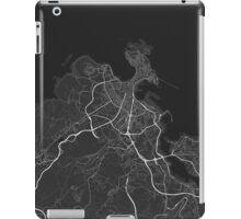 A Coruna, Spain Map. (White on black) iPad Case/Skin