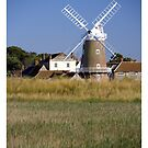 Cley Windmill and reedbeds by cleywindmill