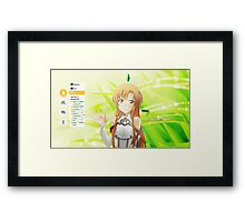 Sword Art Online Asuna Framed Print
