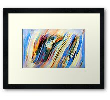 Abstract Oil On Paper Framed Print