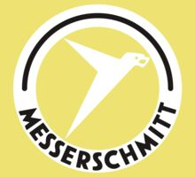 Messerschmitt Aircraft Logo -White- (No Label) Kids Clothes