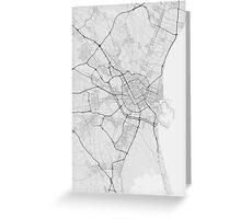 Valencia, Spain Map. (Black on white) Greeting Card