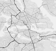 Stockholm, Sweden Map. (Black on white) by Graphical-Maps
