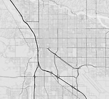Tucson, USA Map. (Black on white) by Graphical-Maps