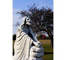 Jesus Kneeling In Prayer Photographic Print