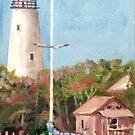 Parked by Ocracoke Light by Jim Phillips