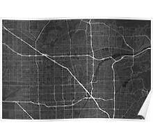Anaheim, USA Map. (White on black) Poster