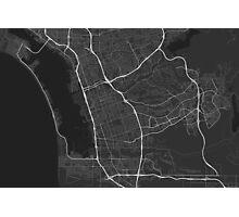 Chula Vista, USA Map. (White on black) Photographic Print