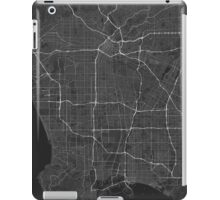 Los Angeles, USA Map. (White on black) iPad Case/Skin