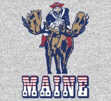 MAINE - Patriot on Mooseback - New England Patriots by shirtsforshirts