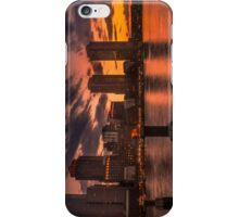 Red sun-dusk in Boston, MA  iPhone Case/Skin