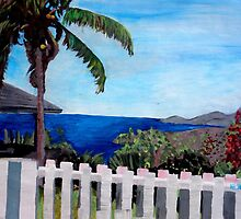 White Fence at English Harbour, Antigua, West Indies by artshop77