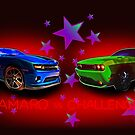 Camaro vs Challenger Controversy T-Shirt! by ChasSinklier