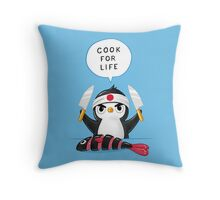 Penguin Chef Throw Pillow