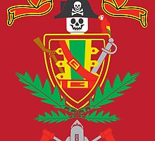 """""""Old School Family Crest (Red)"""" by Evan Ayres"""