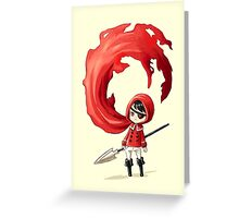 Red Cape Greeting Card