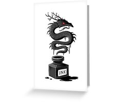 Ink Dragon Greeting Card